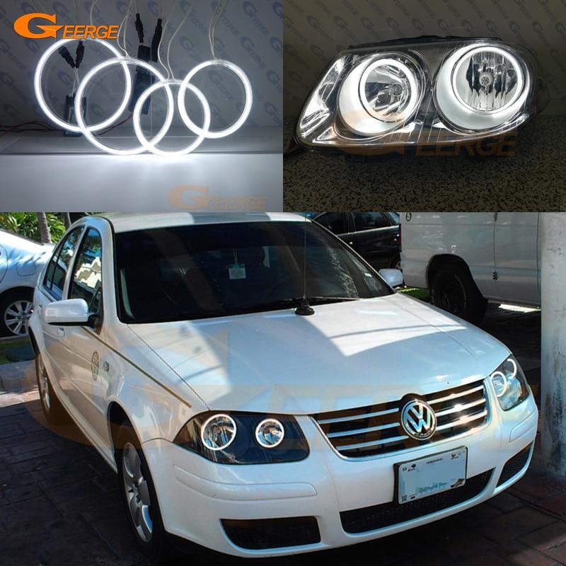Для Volkswagen VW Джетта МК4 города 2007 2008 2009 фара отлично Ультра-яркий освещения CCFL Ангел глаза комплект гало кольца