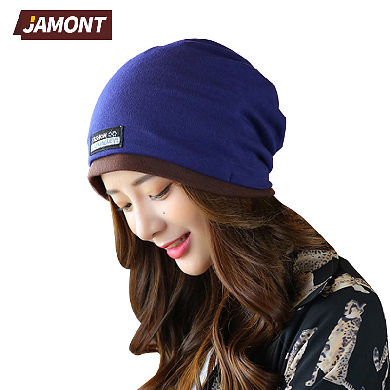 [JAMONT] Women Beanie Hip Hop Slouch Unisex Knitted Cap Winter Hat Beanies Bordered Cap Q3352 [jamont] love skullies women bandanas hip hop slouch beanie hats soft stretch beanies q3353