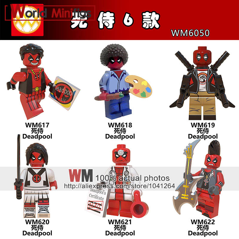 Building Blocks Single Sale Legoings Marvel Super Heroes Athlete Doctor Rocker Rapper Bob Ross Variant Deadpool Kids Gift Toys Dependable Performance
