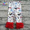 2017 Wholesale Fashion Kids Clothes Ruffle Mickey Cotton Icing Leggings Boutique Fall Pants