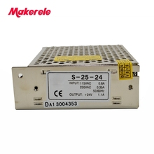 купить Hot sale power supplies 25w 1.1a Switching Power Supply Output DC 5/12/24V for LED Lighting Display with CE certification по цене 616.79 рублей