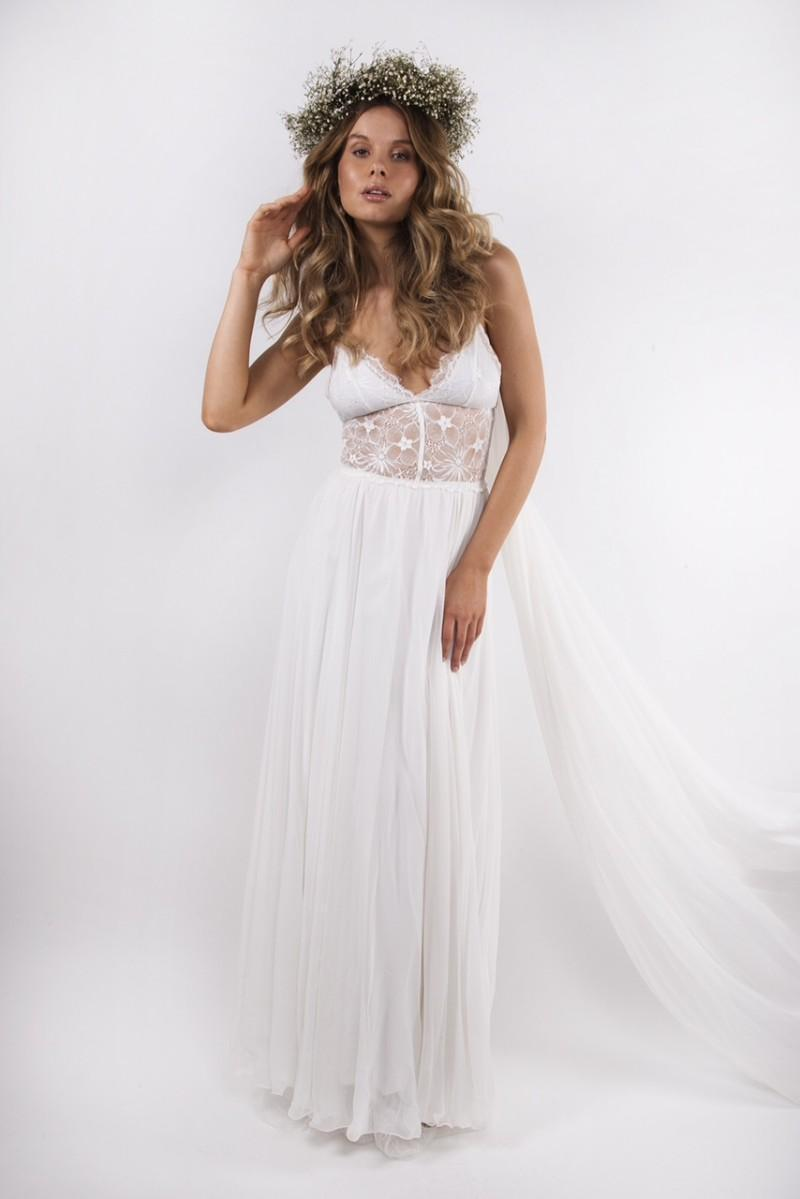 Greek vestido de noiva floating bohemian style wedding for Wedding dress pick up style