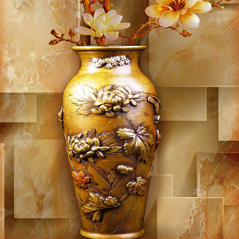 Customize Mural Wallpaper Designs Chinese Retro Painting Vase ...