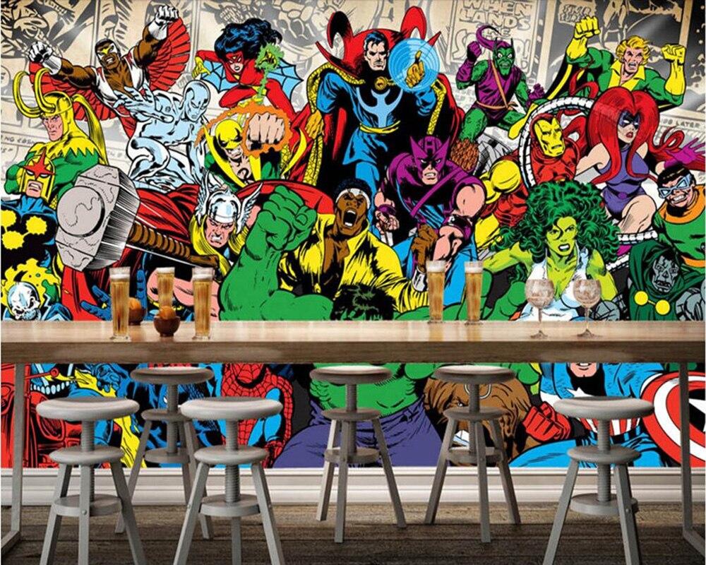 Custom 3D Murals,American Comic Fashion Mural Papel De Parede,hotel Coffee Shop Bar Living Room Sofa TV Wall Bedroom Wallpaper