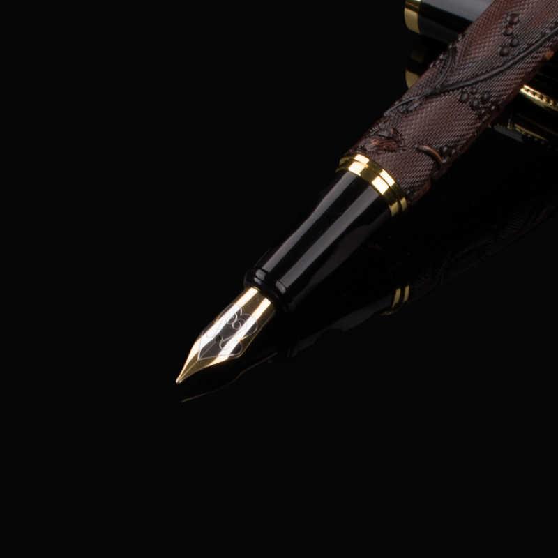 Бесплатная доставка, новое поступление, брендовая Роскошная авторучка, дракон, металлический зажим, Студенческая чернильная ручка, карандаш, сумка, выберите подарок