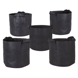 Image 2 - 5PCS Plant Grow Bags Fabric Pots with Washable and reusable Hydroponic Grow Pots plant bag protection vegetable bag Non woven