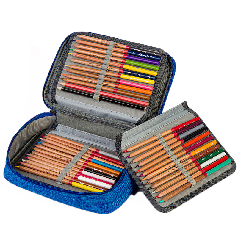 72 Holes Pencil Case Box 4 Layers Oxford Cloth Stationery High Capacity Pencil Case School Tools School Case Stationery Pen Bag 2 3 4 layers high quality large capacity canvas pencil case drawing pens pencil bag portable pencil box school penalties 04856
