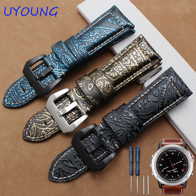 quality genuine leather watchband 26mm luxury phoenix. Black Bedroom Furniture Sets. Home Design Ideas