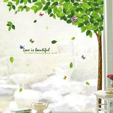 Goedkope verse tuin groen trouwzaal muurstickers slaapkamer ...