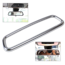 DWCX car-styling Chrome Interior Rear View Mirror Cover Trim For BMW X1 E84 X3 F25 X5 E70 X6 E71 3 4 Series F30 F31 F32 F34 F36(China)