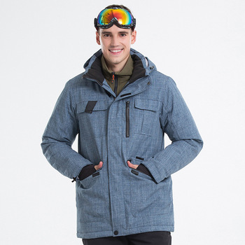 18 New Outdoor Winter Ski Suit Men Hooded Snowboard Suits Windproof Warm Breathable Thick Male Hiking Snow Jacket