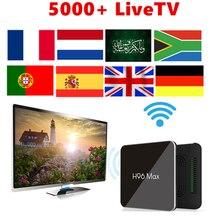H96 Max x2 Smart TV BOX Android 8.1 Smart 4K Media Player 2.4G&5G Wifi Amlogic S905X2 LPDDR Quad Core 4GB 64GB PK X96 MAX DDR3 x96 max android 8 1 amlogic s905x2 lpddr 4 4g 64g tv box quad core 2 4g5g dual wifi bt4 x 1000m h 265 4k 60pfs media player