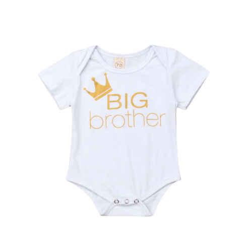 Conjunto de ropa para bebé, Mono para recién nacido, Chico, hermano mayor, pelele para hermana pequeña + pantalón Legging, ropa, atuendos