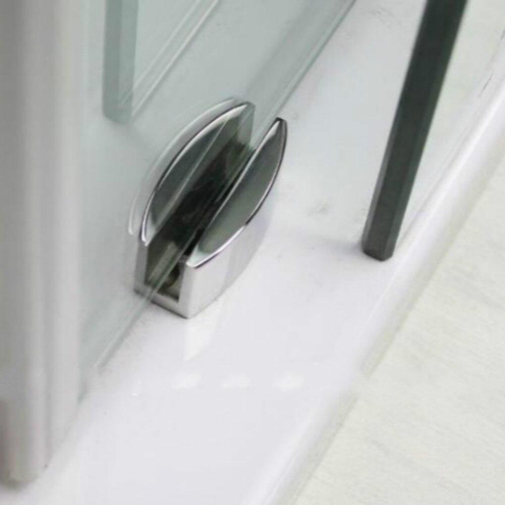 5ft Chromed Polished Stainless Steel Glass Sliding Barn Shower Glass