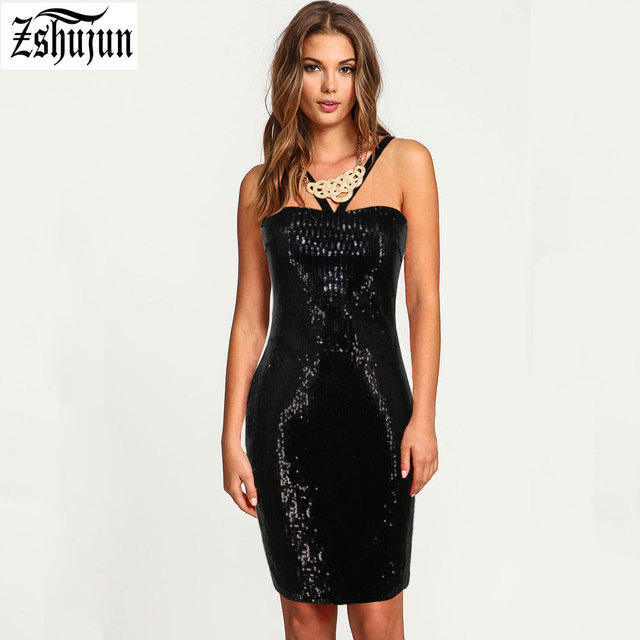 Spot wholesale Women s sexy dress Wrapped chest Harness Strapless Sequin  dress Nightclub Party Pack hip formal dress A2081 ecb46f4e02f7