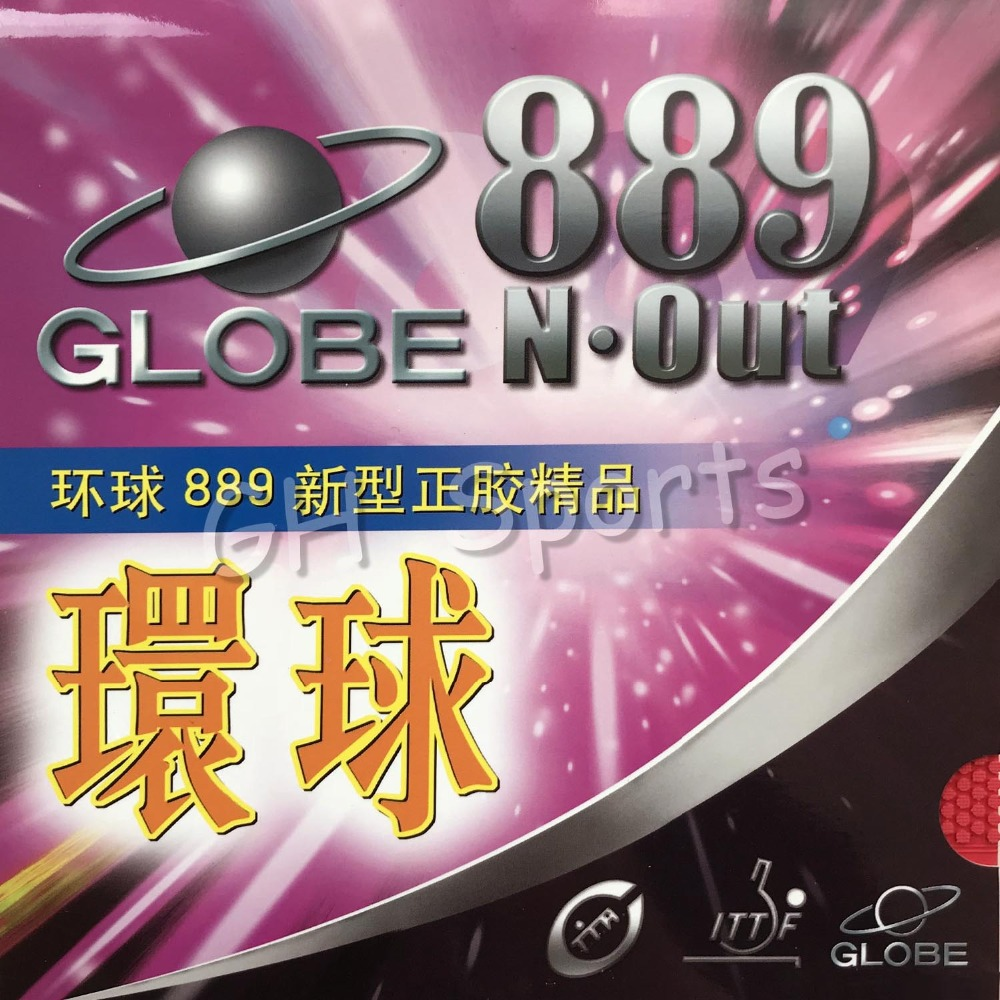 Globe 889 Globe-889 Fast-Attack Short Pips-Out Table Tennis PingPong Rubber With Sponge Best Control