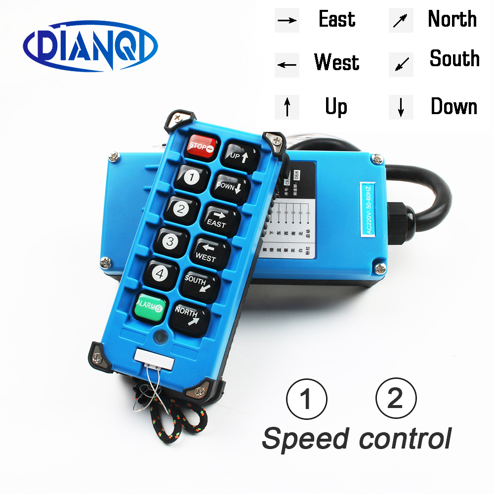 F21 E2B 8 industrial remote controller switches 6 Channels keys Direction button Hoist Crane Truck Radio