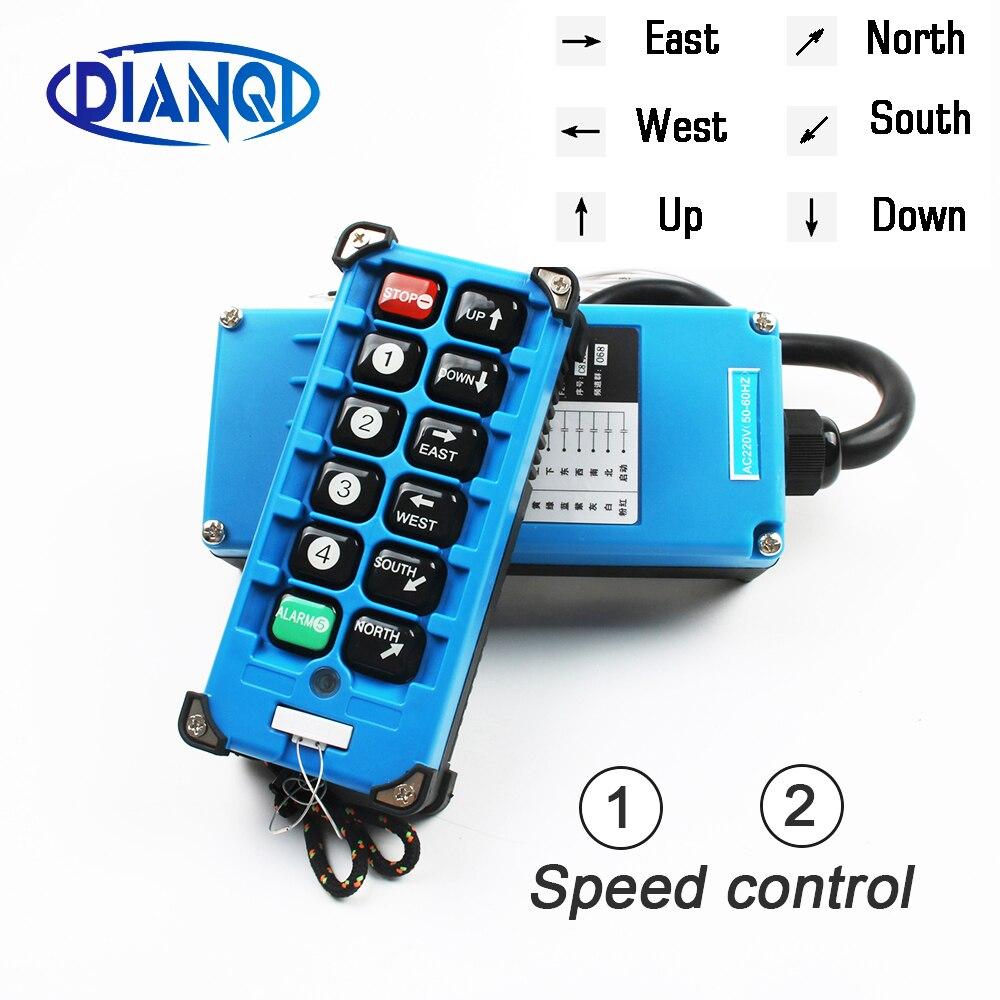 F21-E2B-8 télécommande industrielle commutateurs 10 canaux clés bouton de Direction palan grue camion Radio télécommande système