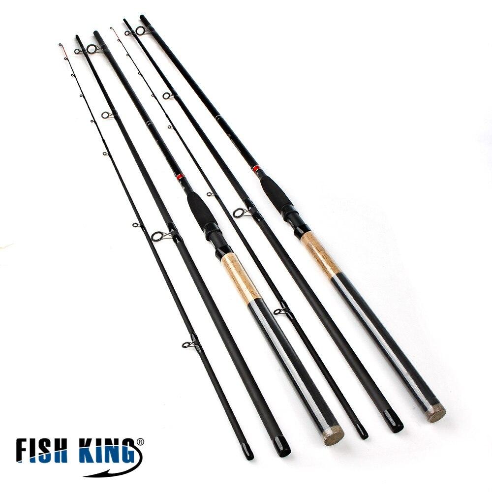 Chargeur de poisson roi haute puissance en carbone Super 3 Sections 3.6 M 3.9 M poids de leurre 40-120g mangeoire canne à pêche tige d'alimentation