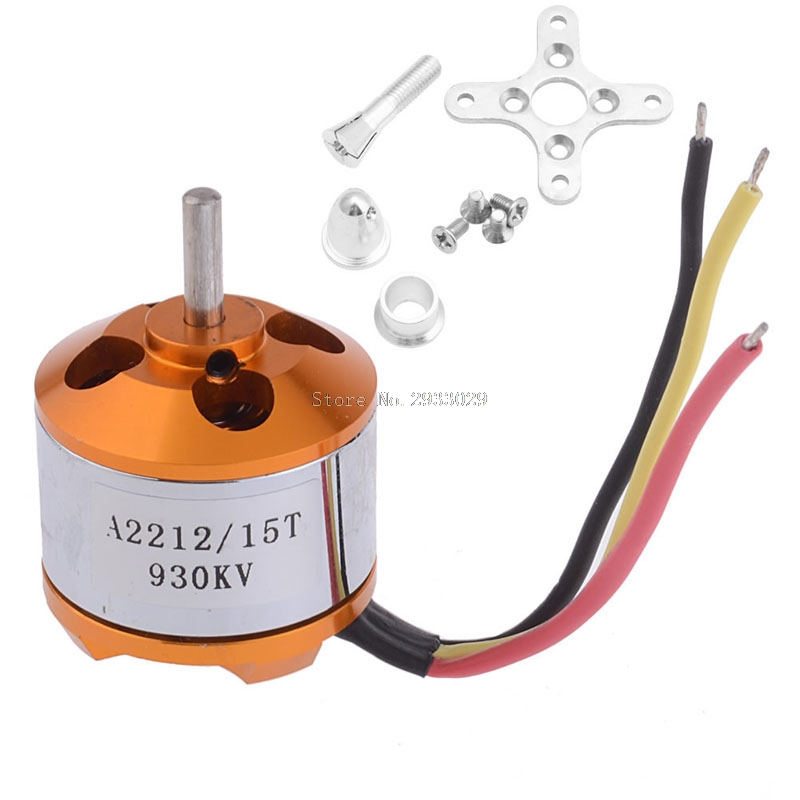 A2212 KV930 KV1000 KV1400 KV2200 Outrunner Brushless Motor Mount 15T Airplane Aircraft Quadcopter Helicopter Drone -B116 a2212 1400kv motor with installation kit for fixed wing rc drone brushless outrunner motor for aircraft quadcopter helicopter