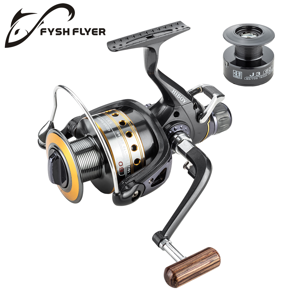 Fishing Reel Spinning Carp Reel Wooden Handle Front and Rear Carbon Drags Max Drag 18Kg 9