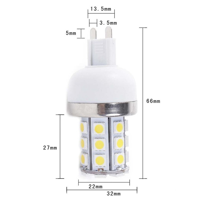 Wholesale 50pcs/lot New 5W Warm White 360 Degree 5050 SMD 30 LED Bulb Lamp G9 Energy Saving AC 220V EMS free shipping
