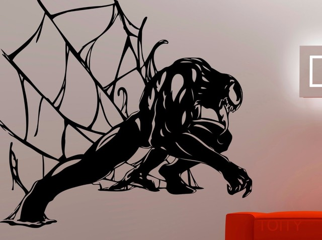Venom Sticker Spiderman Wall Decal Marvel Comics Creative Art Vinyl Art  Decoration Home Kids Room Decor Removable Mural