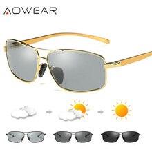 AOWEAR, мужские фотохромные, хамелеон, поляризационные солнцезащитные очки, мужские, меняющие цвет, линзы, очки, мужские, для улицы, для вождения, oculos de sol