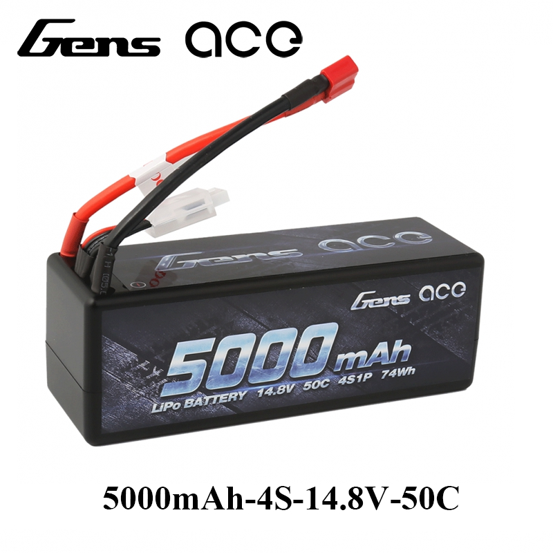 Gens ace Lipo Battery 14.8V 5000mAh Lipo 4S 50C RC Battery Pack Deans Plug for 1/8 1/10 Car RC Boat Top Performance gens ace lipo battery 3s 5200mah lipo 11 1v battery pack 3 5mm banana connector 10c battery fpv hobbies rc models accessories