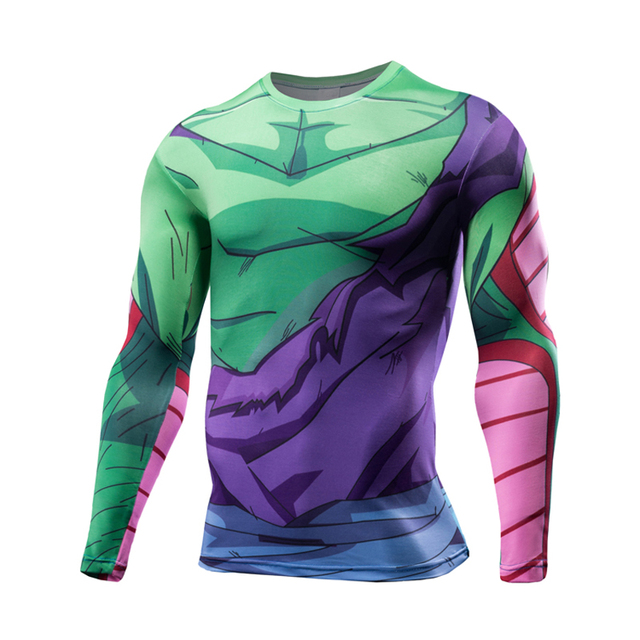 Vegeta T-shirts fitness Compression shirt Cartoon Dragon Ball Z T-shirt 2017 Crossfit t shirt Anime Camiseta Cosplay Costume