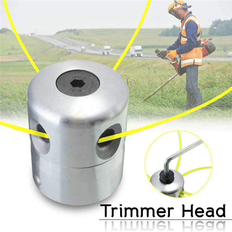 Trimmer Head Agricultural Use Coil Chain Aluminum Silver Durable Updated Outdoor