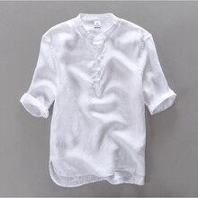 2016 marke clothing 100% leinen männer shirt slim fit lässige kleid shirts männer sommer shirt kurzarm herren camisa masculina camisa