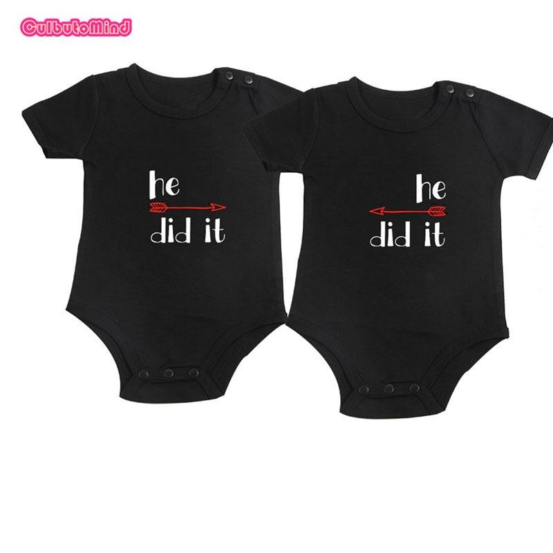 Culbutomind Infant Baby Twins Conjuntos Conjunto de dos monos Diseño - Ropa de bebé