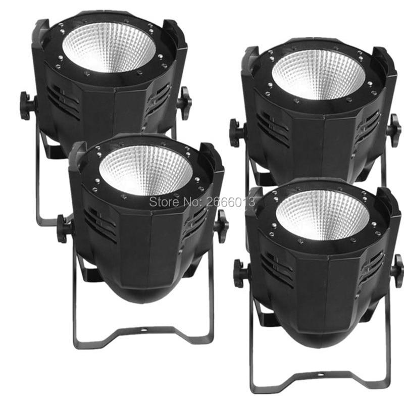 4 st / lot LED Par Light COB 100W High Power Aluminium Cool White And Warm White DJ DMX Led Beam Wash Strobe Effect Stage Lighting