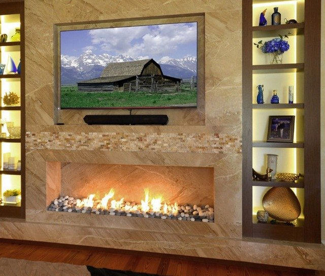 24 Inch Automatic Intelligent Smart Ethanol Real Flame Fireplace For Sale