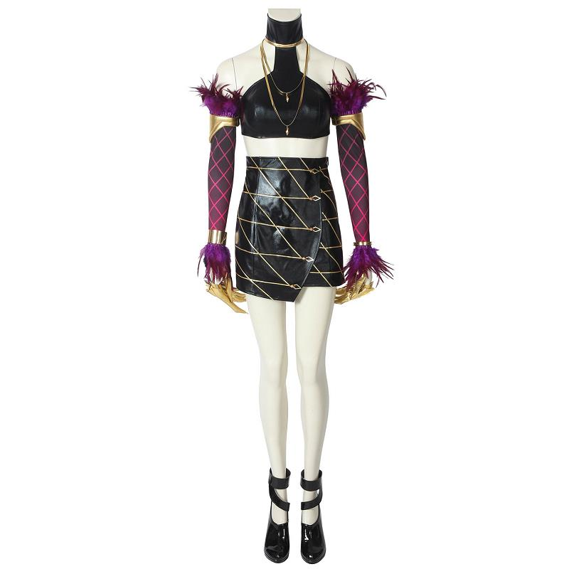 Game LOL KDA Evelynn Cosplay Costume Fancy Dress League of Legends Sexy Leather Outfit New Skin Halloween Women Suit Custom Made