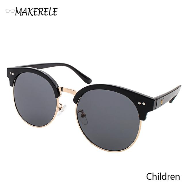 6038373dd79e8 Filles Garçons enfants lunettes de soleil pour enfants Demi Cadre Polaroid  Lentille Petit Cercle Lentille Lunettes