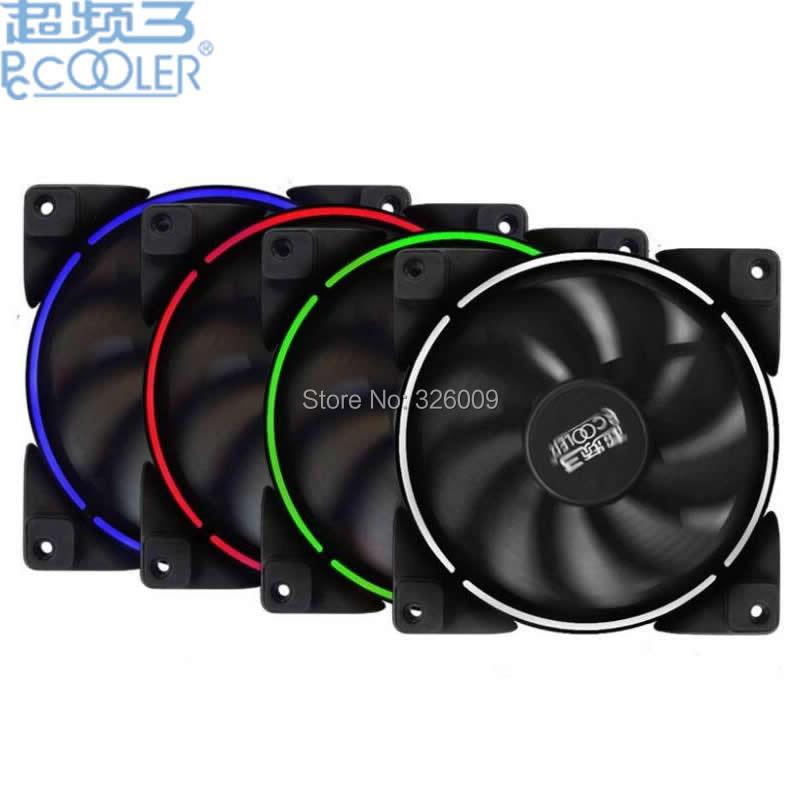 PcCooler Helle mond farbe ring 12 cm fan solar eclipse Halo kühlung für Computer fall Blau Rot Grün Weiß hohe qualität Stille