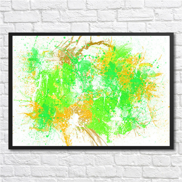 Corporate Culture Abstract Coated Paper Colorful Modern Wall Art Poster  Painting Office Inspirational Wall Art Poster
