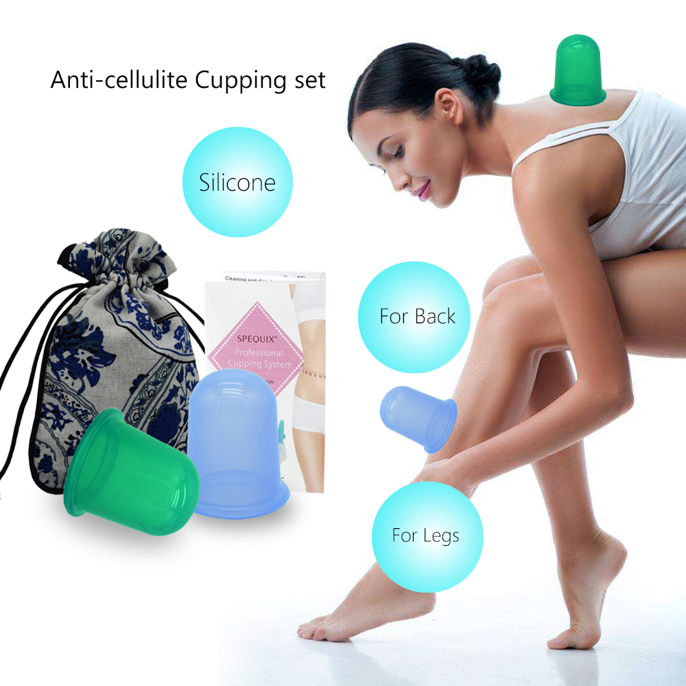 2 PCS/SET Family Body Massage Helper Therapy Cupping Set Anti Cellulite Vacuum Silicone Cupping Cups Health Care Hot Selling 1pcs small family body massage helper anti cellulite vacuum silicone cupping cups health care tool pink color
