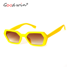 Good Win Vintage Retro Women Men Sunglasses Hexagon Sun Glasses For Gradient Small Shades Red dames zonnebril lentes so
