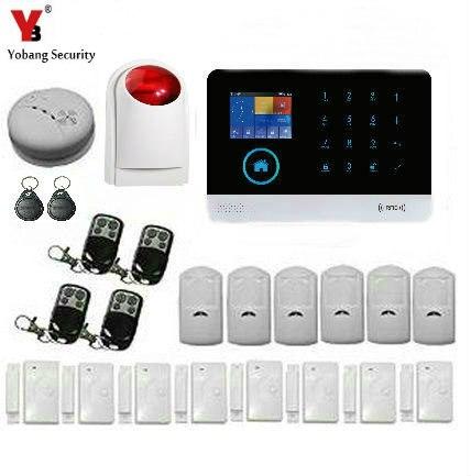 YobangSecurity English German 3G WIFI/GPRS/SMS Home Alarm System Wireless Security PIR Door/Window Sensor Alarm Apps Control simcom 5360 module 3g modem bulk sms sending and receiving simcom 3g module support imei change