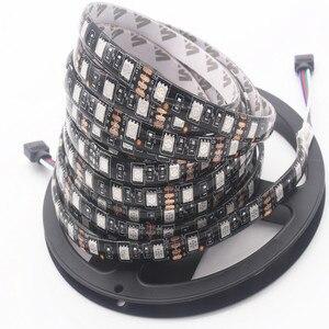 Светодиодная лента OSIDEN, 5 м, черная, RGB 5050, белая/теплая, белая/синяя, СВЕТОДИОДНАЯ лента SMD 5050, 12 в пост. Тока, IP20, не водонепроницаемая, 60 светод...