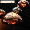 Bacia de bronze lustres de vidro, material: vidro, grande E27/E14 pequeno, cor: cobre de ouro/prata/ouro, AC110-240V