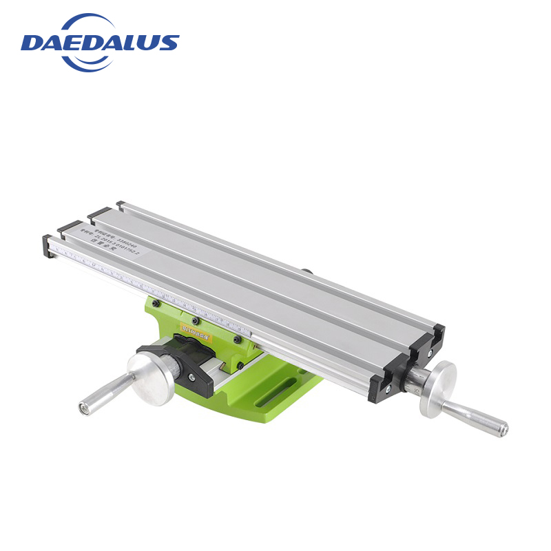 Working table Miniature Precision Mini Multifunction Table Bench Vise Bench Drill Milling Machine Cross Assisted Power Tool universal aluminum alloy table flat bench vise drill press vise small vise for woodworking diy tool milling machine