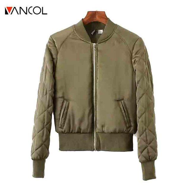 3 Color Pattern 2015 New Fashion Fall Khaki Dark Blue Short Slim Cotton Warm Winter Black Diamond Shaped Bomber Jacket Women