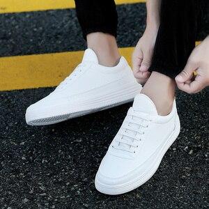 Image 5 - גברים של נעלי ספורט אביב לבן סניקרס פלטפורמת נעלי גברים נעליים יומיומיות שחור עור סניקרס נוח הליכה נעלי 2020