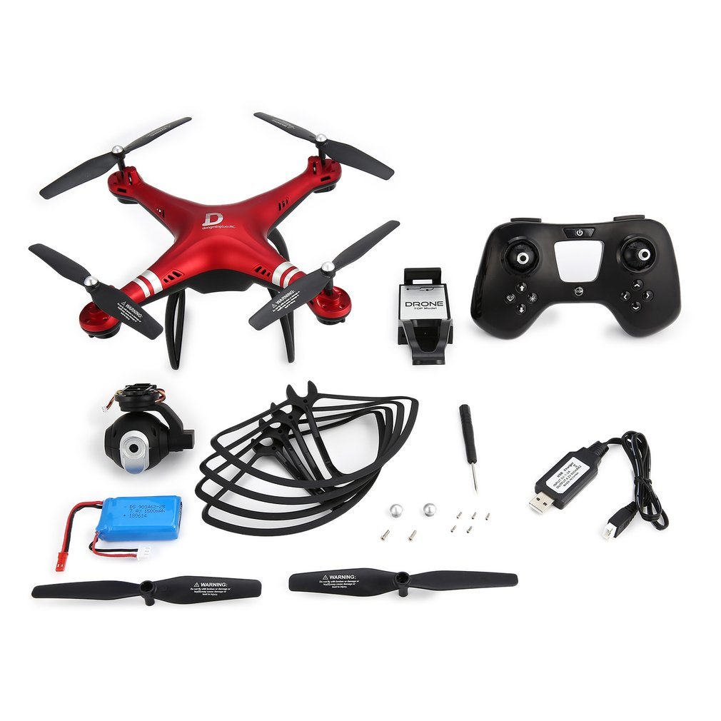 2.4G FPV RC Quadcopter Drone with 720P/ 0.3 MP Adjustable Camera Altitude Hold 3D-Flip Long Flight RC Drone Model Toy Hobby New brand new rc quadcopter parts spare c4002 5 8g fpv monitor 720p camera antenna set for wltoys v666 v666n v222 rc hobby drone