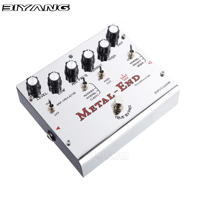 Biyang Metal End King Metal Guitar Effect Pedal Ture Bypass Follow Tonefancier Criteria Effects Stompbox For