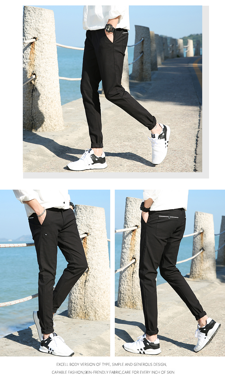 Casual Men Cotton Slim Fit Chinos Pants 4